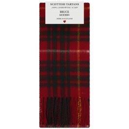 Bruce Modern Tartan Clan Fashion Scarf 100% Lambswool Made in Scotland (Bruce Clan Tartan)