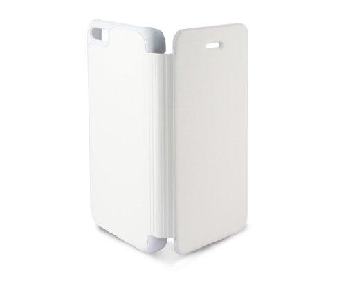 KSIX B0913FU81B Folio Case für Apple iPhone 5C weiß