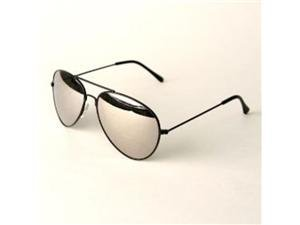 Classic Mirrored Aviator Sunglasses Black ()