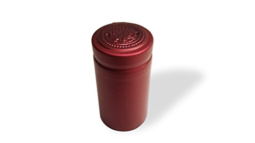 PVC Heat Shrink Capsules With Tear Tabs For Wine Bottles - 140 Count (Matte Burgundy) by shwsupplies