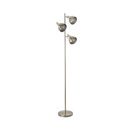 Lámpara de Pie Emer 3 Focos Plata Plata efectoLED