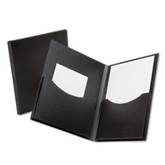 Gusseted Folder (- Poly Double Stuff Gusseted 2-Pocket Folder, 200-Sheet Capacity Black)