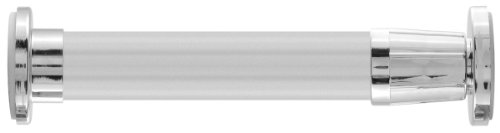 LDR 502 6325 72-Inch Polished Aluminum Straight Shower Rod with Expandable Flanges, Chrome Finish