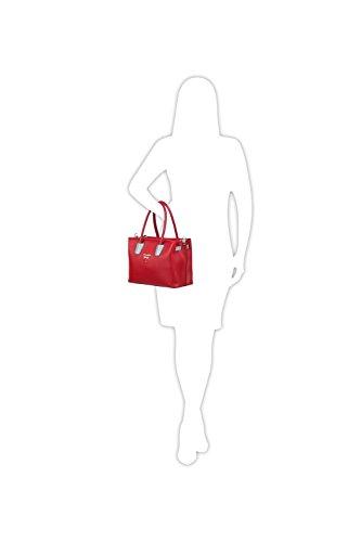 Borsa Da Donna Elizabeth George 792-81 Rosso - Borsa Da Donna Argento Borsa A Spalla Borsa A Spalla Shopper Borsa A Tracolla