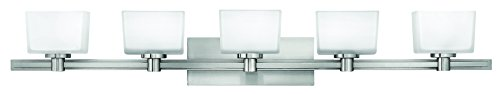 Hinkley 5025BN Transitional Five Light Bath from Taylor collection in Pwt, Nckl, B S, Slvr.finish,