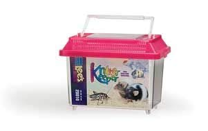 Lee's Kritter Keeper, Mini Rectangle w/Lid ( Colors May Vary ) (Portable Reptile Cage)