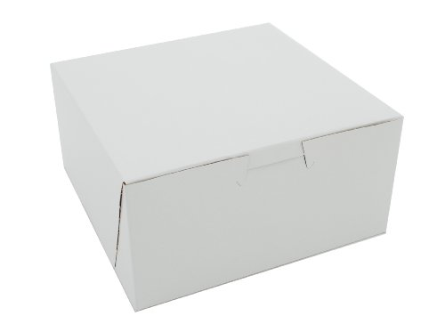 Southern Champion Tray 0905 Premium Clay Coated Kraft Paperboard White Non-Window Lock Corner Bakery Box, 6