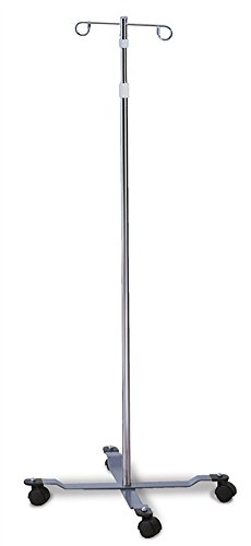 IV Stands/Poles - Economy 2-Hook Twist Lock, 4-Leg by Colortrieve