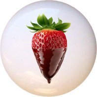 Ceramic Knob - Chocolate-covered Strawberry - Food and Drink