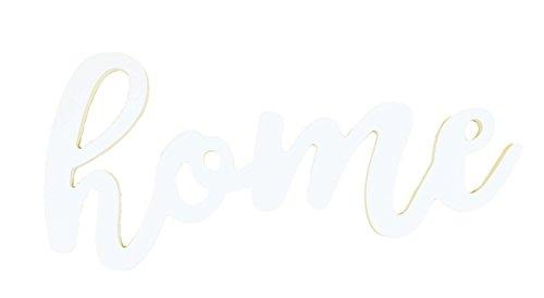 P. Graham Dunn Home Script White 17.5 x 8 Wood Cutout Wall Words Mounted -