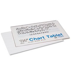 (6 Pack Value Bundle) PAC74720 Chart Tablets w/Manuscript Cover, Ruled, 24 x 16, White, 25 Sheets/Pad (Chart Pac74720)