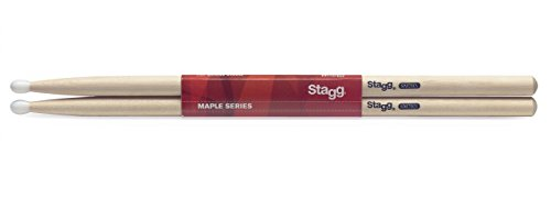 Nylon Drumsticks 3a (Stagg SM2BN Maple 2B Grip Drumsticks with Nylon Tip)