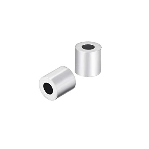 uxcell M1.5 Aluminum Sleeve Single Tube Crimp 1.5mm 1/16 in Steel Wire Rope Button Stop Clips Cable Ferrules 50 -