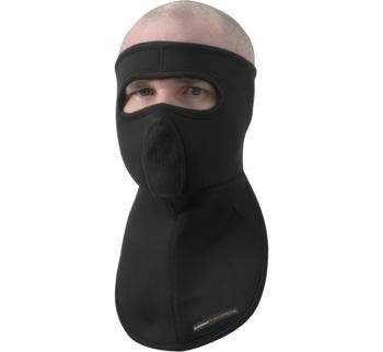 Schampa Black Fleeceprene Half Mask With Mesh Breather for Cold Weather Conditions ()