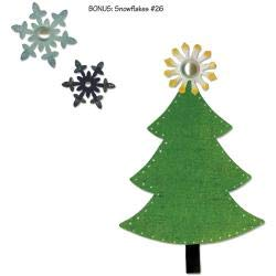 Sizzix Basic Grey Nordic Holiday Collection Bigz and Sizzlits Die Tree and Snowflakes (4 Pack)