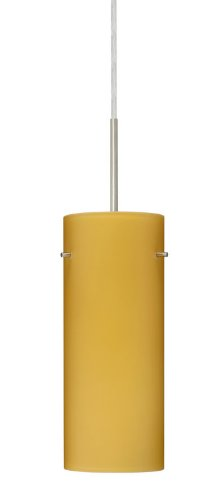 4123vm Led (Besa Lighting 1JC-4123VM-LED-SN 1X6W GU24 Stilo 10 LED Pendant with Vanilla Matte Glass, Satin Nickel Finish)