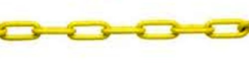 ASC MC18721605 Low Carbon Steel Straight Link Coil Chain, Polycoated Yellow, 2/0 Trade, 1/8