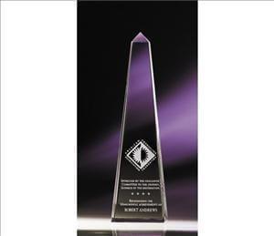 - ANEDesigns Engraved Optic Obelisk-Crystal Award