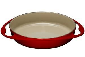 Le Creuset Enameled Cast-Iron 9-3/4-Inch Round Tarte Tatin Pan, Cherry by Le Creuset (Image #1)