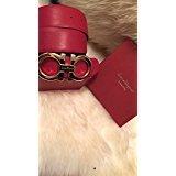 Men's Authentic Salvatore Ferragamo Reversible Belt Red/black 95cm/32-34 NWT (Calfskin Embossed Belt)