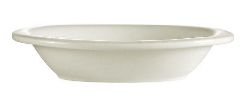 CAC China Rolled Edge 22-Ounce Stoneware Deep Oval Baking Bowl, 10-1/4 by 7-1/2 by 2-Inch, American White, Box of 12 Deep Oval Baking Dish