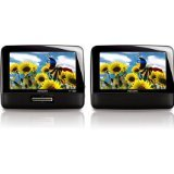 Philips PD7012P/37 LCD 7-Inch Dual Screens Portable DVD Player (Black) ()