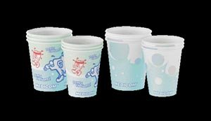 Medicom 115-CH Poly-Coated Paper Cup, 5 oz, Bubbles Design (Pack of 1000) by Medicom (Image #1)