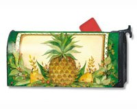 MailWraps Pineapple and Pears Mailbox Cover #07151 Mailwraps Pineapples