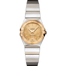 Omega Constellation Champagne Dial Yellow Gold and Stainless Steel Ladies Watch 12320246008002