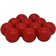 Blank Colored Golf Balls – Red, Outdoor Stuffs