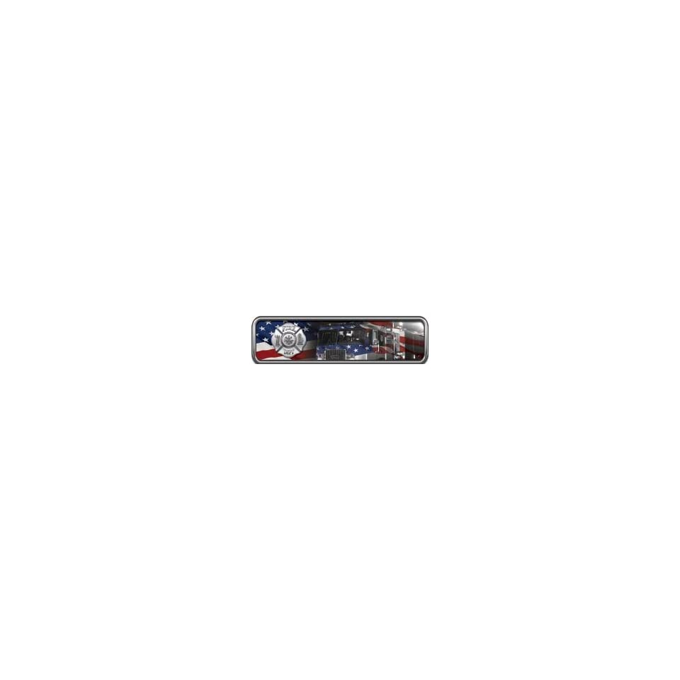 Reflective American Flag Engine Helmet Marker 1 h by 4 w   Set of 4 REFLECTIVE Decals