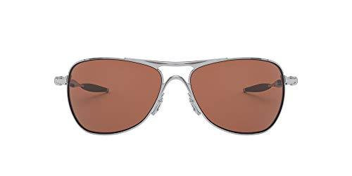 Oakley Men's OO4060 Crosshair Aviator Metal Sunglasses, Chrome/Vr28 Black Iridium, 61 mm from Oakley