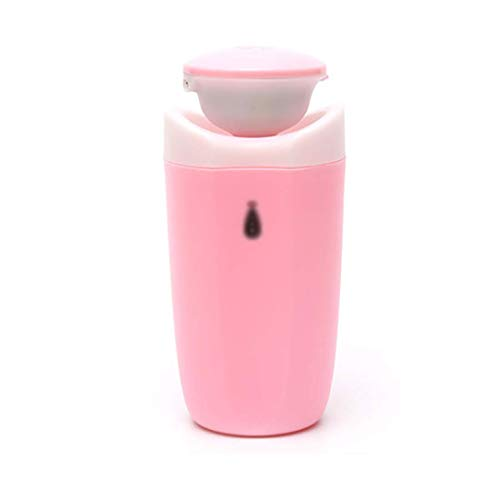 SYF Silent Humidifier|Home Bedroom Living Room Office Ultrasonic Sprayer Air Humidifier Classic Cylindrical Fragrance Lamp 250ml A+ (Color : Pink)