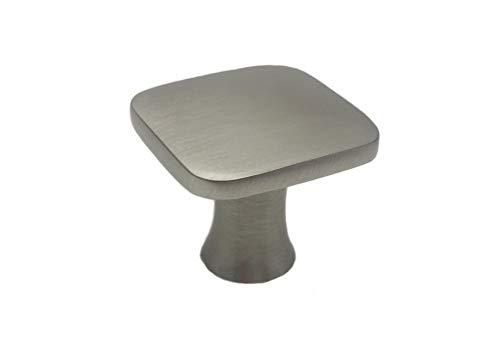 Colester Direct Kitchen Cabinet Hardware Drawer Knob Square (25, Brushed Satin Nickel)