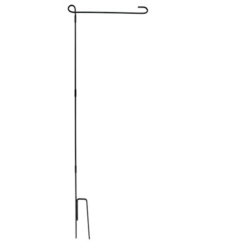Home-X - 4 Piece Wrought Iron Garden Flag Stand, Perfect for Flags and Banners Size 18