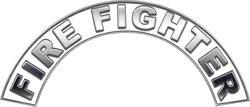 White Firefighter Fire Helmet Arcs / Rocker Decals Reflective