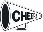 (CHEER Megaphone Cheerleading Cheerleader Car Fridge Brand New)