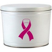 Ribbon of Hope Breast Cancer Awareness 2 Gallon Tin 100 (Breast Cancer Awareness Tins)