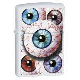 Eyeballs White Matte Zippo