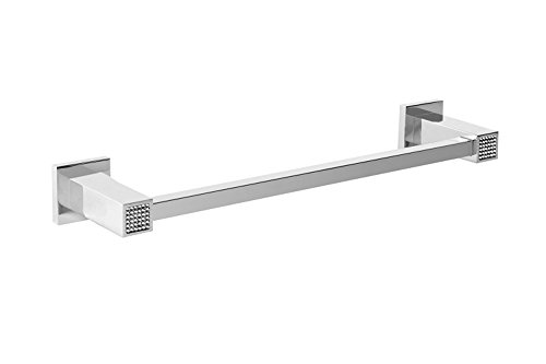 Skip Diamond Wall 24-inch Bathroom Towel Bar Rail Holder, Wall Mount Bathroom Accessories Towel Rack Rail Holder, Made in Spain (European Brand) (Polished Chrome) by Hispania bath