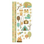 (We R Memory Keepers - Happy Campers Collection - Embossed Cardstock)