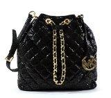 michael kors black quilted bag - Michael Kors Frankie Quilted Large Convertible Shoulder Bag Black