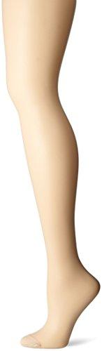 Hanes Women's Control Top Reinforced Toe Silk Reflections Panty Hose, Travel Buff, A/B ()
