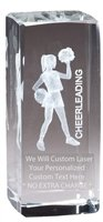 Customizable Optical Crystal Cheerleading Trophy Award Gift