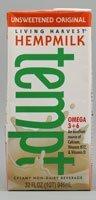 Living Harvest Tempt Hemp Milk, Unsweetened Original, 32-Ounce Containers (1 Carton)