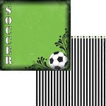 Moxxie Soccer Goal 12 Inch x 12 Inch Double-Sided Scrapbook Paper - 1 Sheet (SO1421)