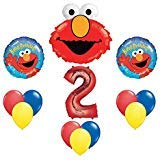 Elmo Sesame Street #2 2nd Second Birthday Party Supply Balloon Mylar Latex Set by -