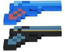 8 Bit Pixelated Costume (8 Bit Pixelated Blue Diamond Foam Gun & 8 Bit Pixelated Black Stone Foam Gun Set)
