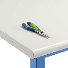 Plastic Laminate Safety Edge - Workbench Top - Plastic Laminate Safety Edge, Light Gray, 60