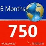 Iridium Global Prepaid Airtime SIM Card (750 Minutes)